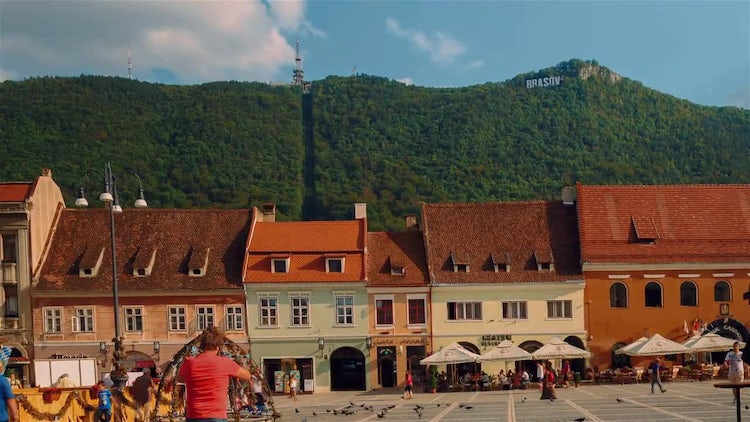 Hyperlapse Of Brasov, Romania: Stock Video
