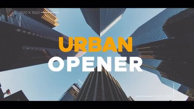 Urban Rhythmic Opener: After Effects Templates