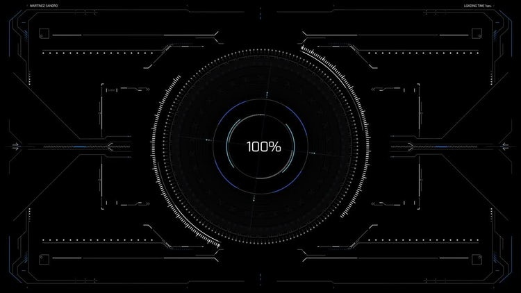 HUD Display 1: Stock Motion Graphics