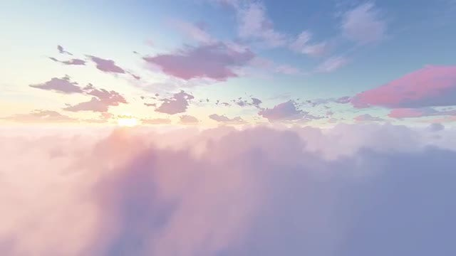 Fly Through Magic Clouds: Stock Motion Graphics