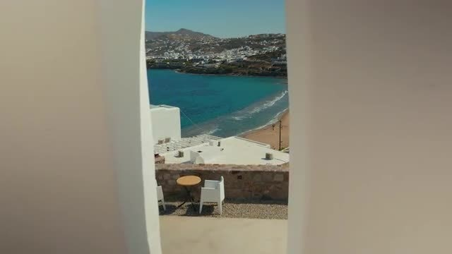 View To A Mediterranean Island: Stock Video