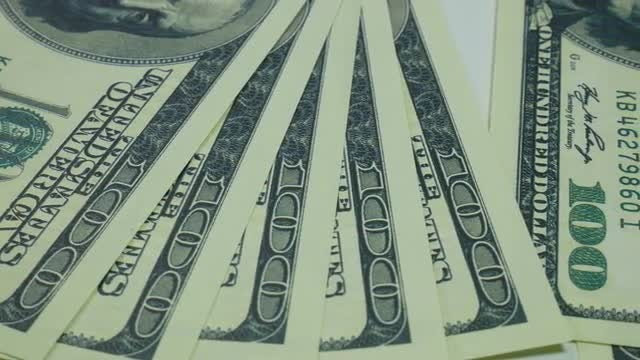 American Currency On A Table : Stock Video