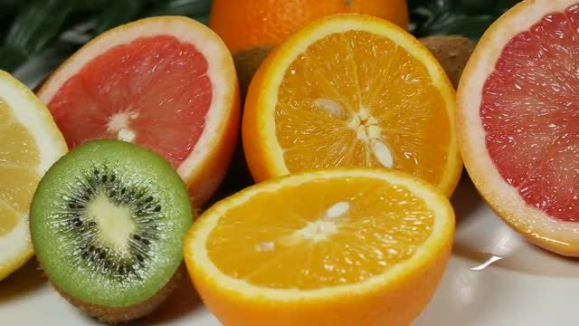 Citrus Fruits On The Table: Stock Video