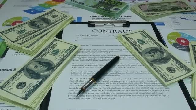 Successful Financial Business Contract: Stock Video