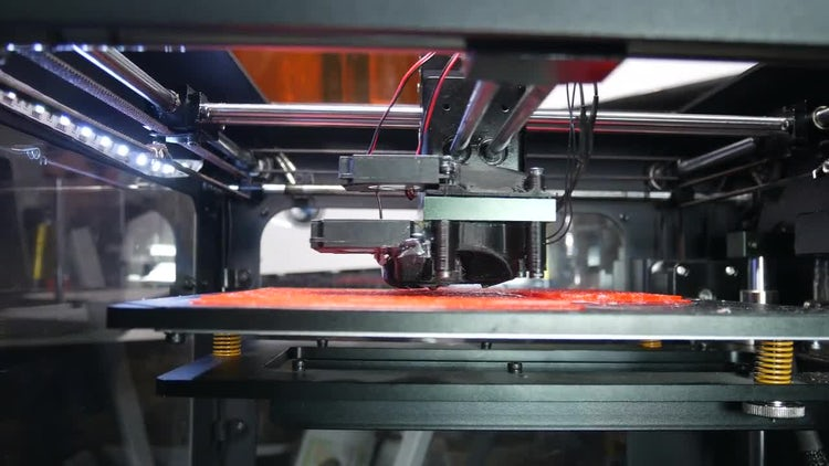 3D Printer Printing House Figurines: Stock Video