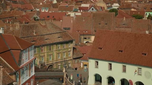The Houses Of Sibiu, Transylvania: Stock Video