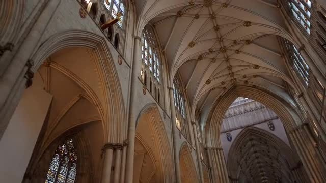 The Interior Of York Minster: Stock Video