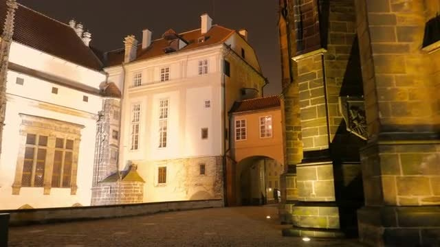 Prague Castle And St. Vitus Cathedral : Stock Video