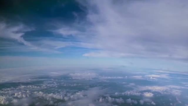 Clouds Above And Below Plane: Stock Video