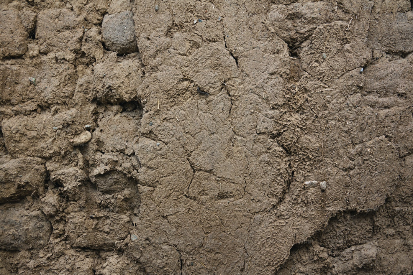 Old Clay Wall: Stock Photos