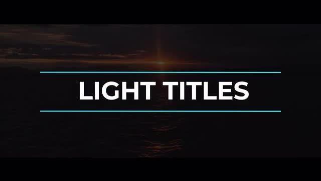 Light Titles & Lower Thirds: After Effects Templates