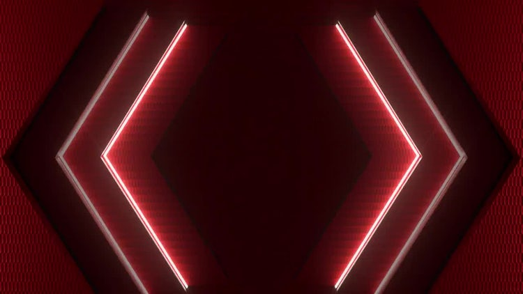 Hexagon Light Sequence: Stock Motion Graphics