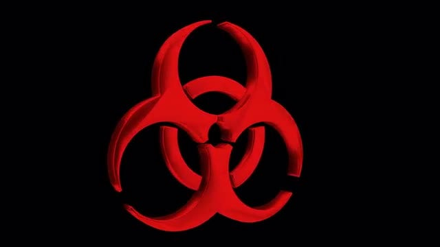 Red Bio-Hazard Symbol: Stock Motion Graphics