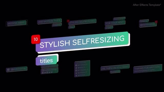 Stylish Self-Resizing Titles: After Effects Templates