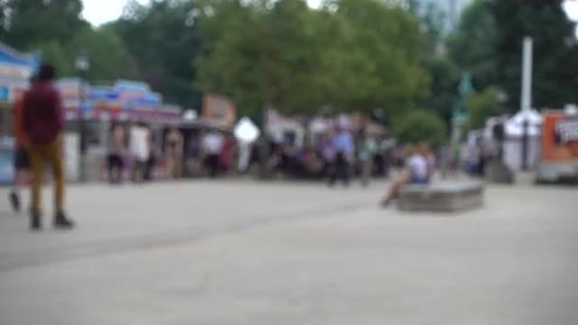 People Walking At Festival: Stock Video