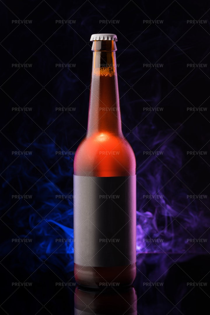 Cool Bottle Of Craft Beer: Stock Photos