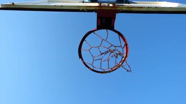 Basketball Going Through The Net: Stock Video