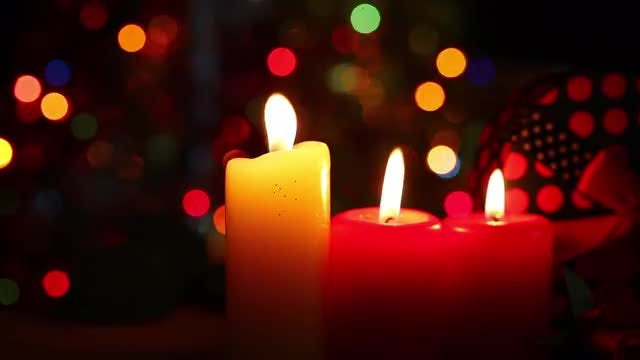 Candles And A Gift Box: Stock Video