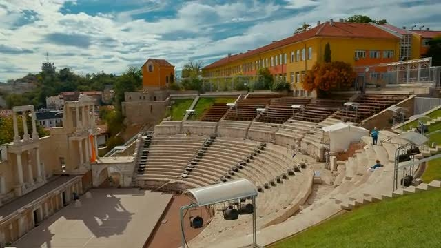 Roman Theater, Plovdiv, Bulgaria: Stock Video