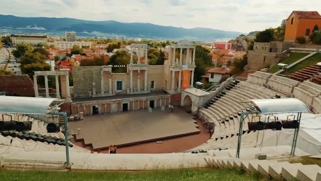 Ancient Roman Theatre Of Philippopolis: Stock Video