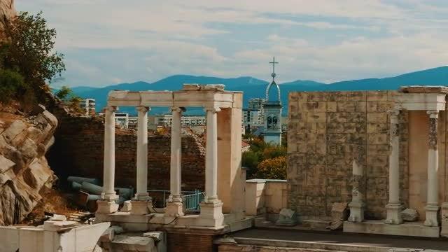 The Roman Theatre Of Philippopolis: Stock Video