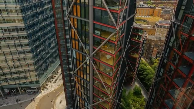 Modern Office Buildings In Central London: Stock Video