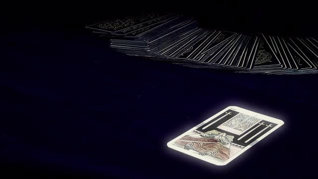 Fortune Teller With Tarot Cards: Stock Video