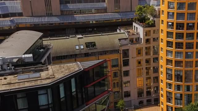 Modern Skyscrapers In London: Stock Video