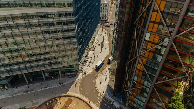 Modern Corporate Buildings In London: Stock Video
