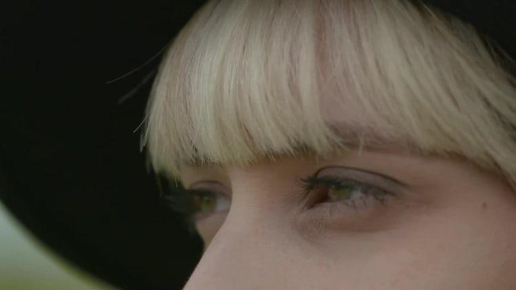 Close-up Shot A Beautiful Woman: Stock Video