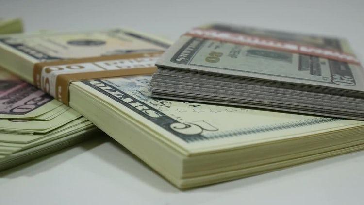 Hoards Of Dollar Bills: Stock Video