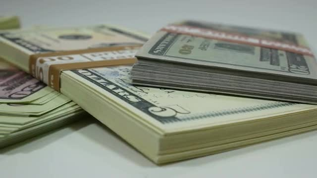 Hoards Of Dollar Bills: Stock Video