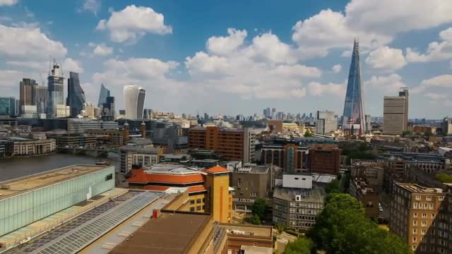 Central London, The City And The Shard: Stock Video