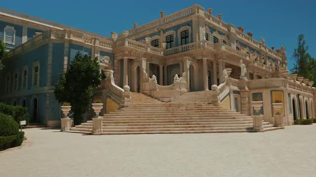 Queluz Palace, Lisbon, Portugal: Stock Video