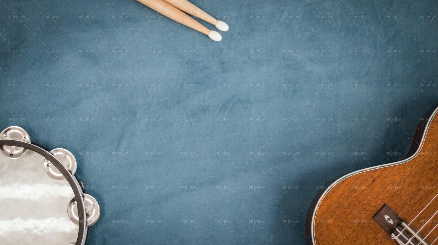 Blue Music Background: Stock Photos