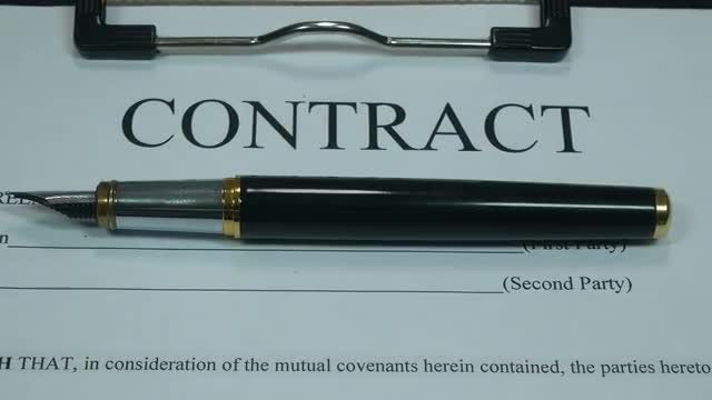 Business Contract Of Modern Company: Stock Video