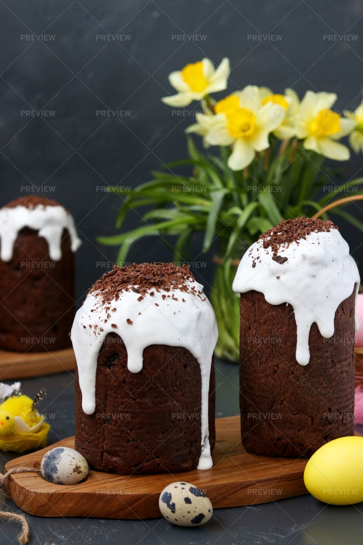 Chocolate Easter Cakes: Stock Photos