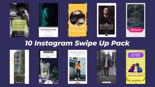 how to add swipe up on instagram