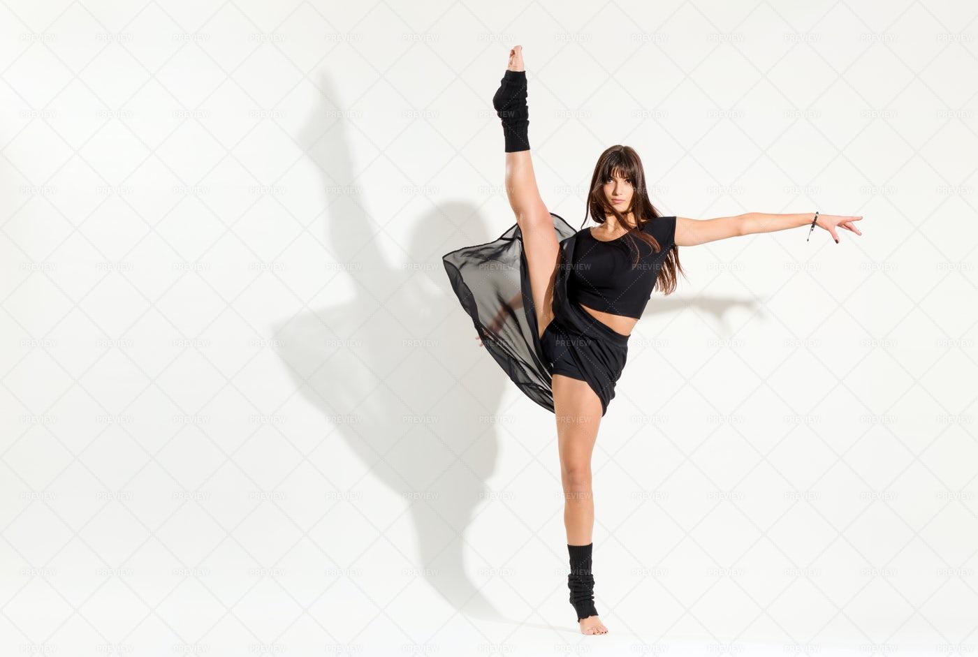 Dancer Performing An Ice Skater: Stock Photos