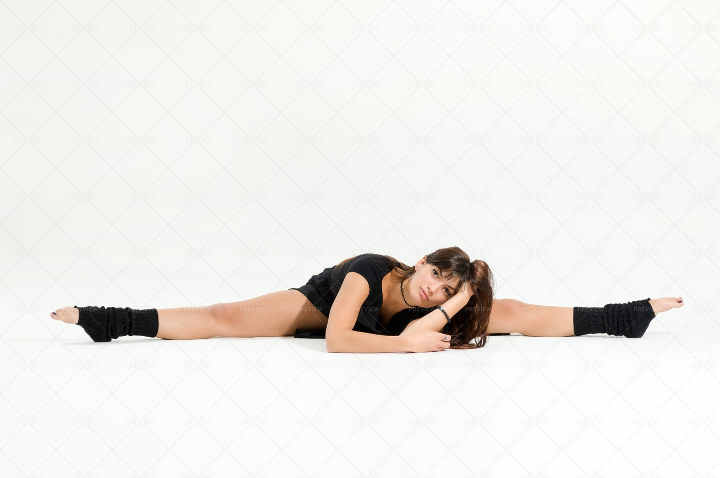 Professional Dancer Performing Middle Sp: Stock Photos