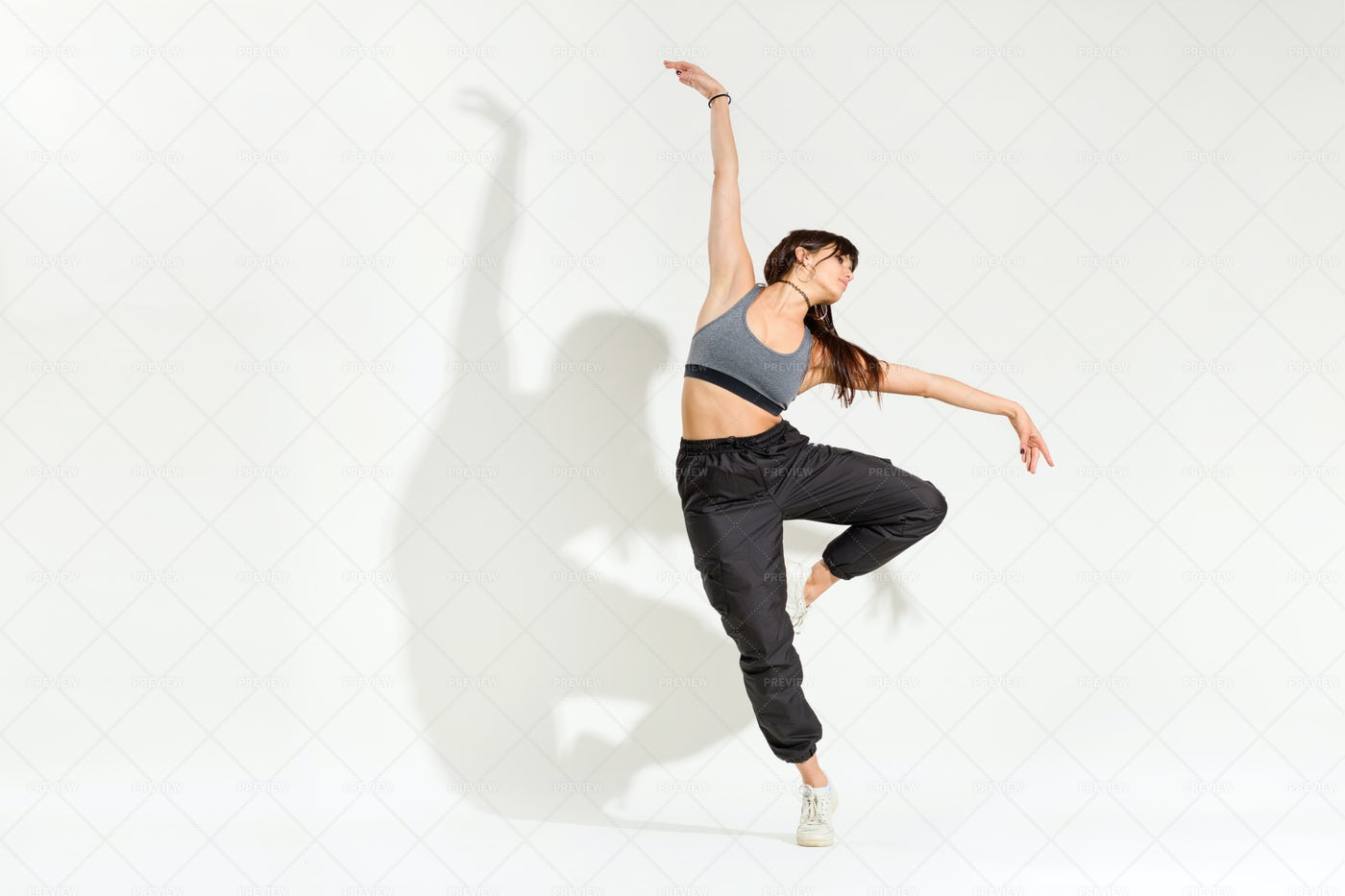 Dancer Performing A Dance Pose: Stock Photos