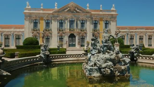 Queluz Palace In Portugal: Stock Video