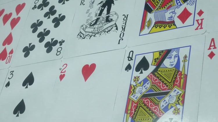 Poker Cards Background: Stock Video