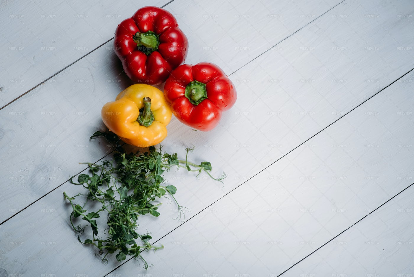 Pepper And Greens: Stock Photos
