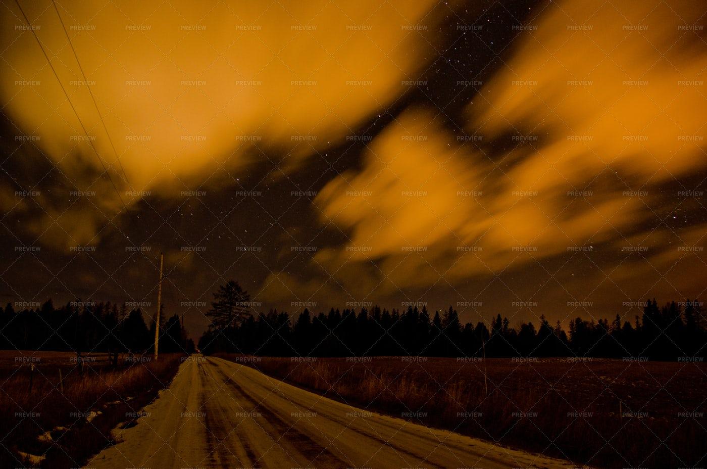 Long  Exposure Clouds: Stock Photos