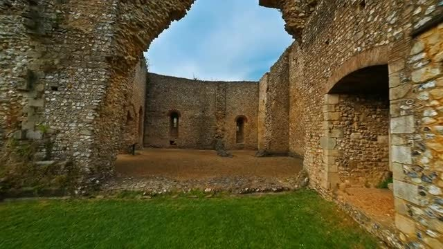 The Medieval Wolvesey Castle, In England: Stock Video