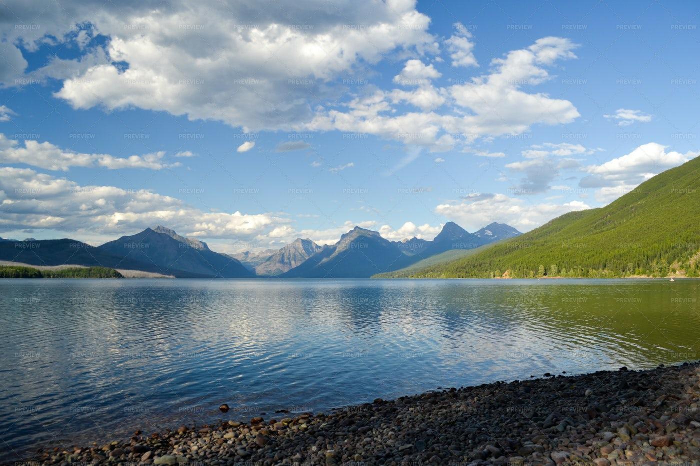 A Rocky Mountain Lake: Stock Photos