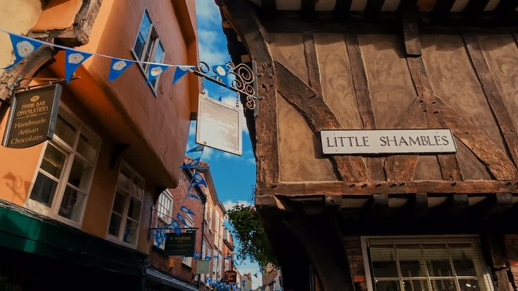 The Shambles In York, England: Stock Video