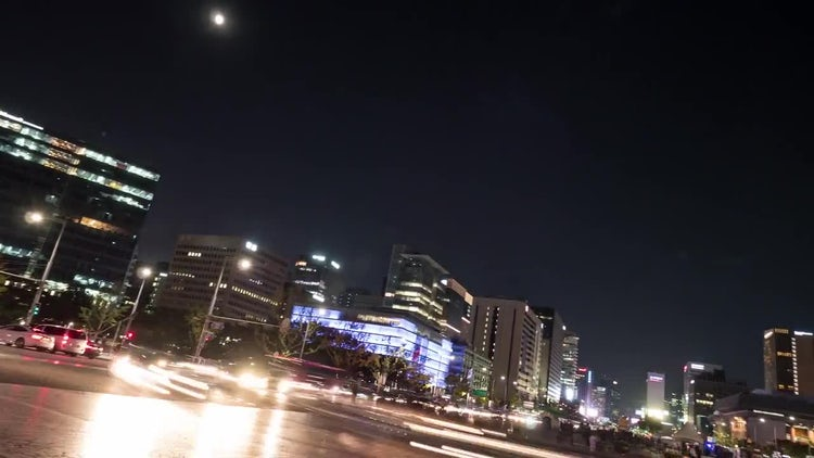 Seoul Night Life Time Lapse : Stock Video