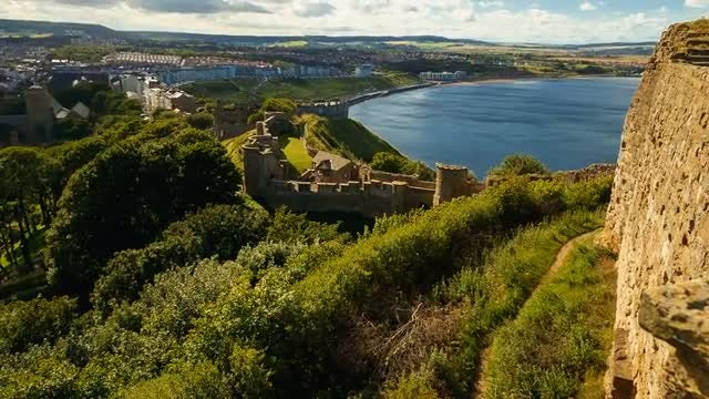 Scarborough Castle, North Yorkshire, England: Stock Video